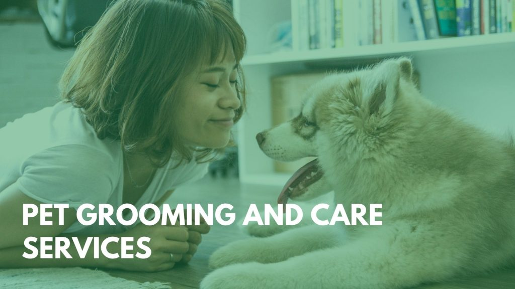 Pet grooming and care services