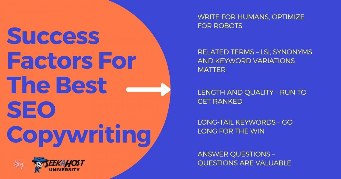 Top 5 Success Factors For The Best SEO Copywriting By SeekaHost University