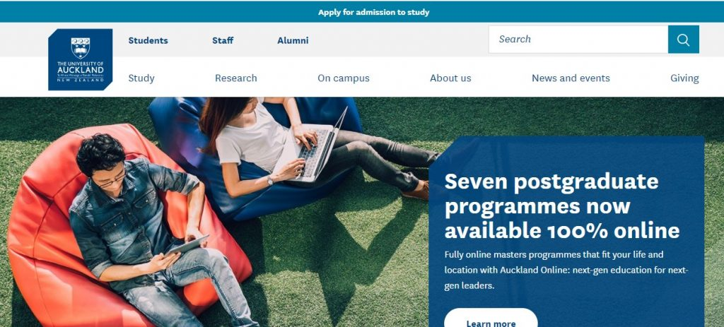 The University of Auckland-study in New zealand