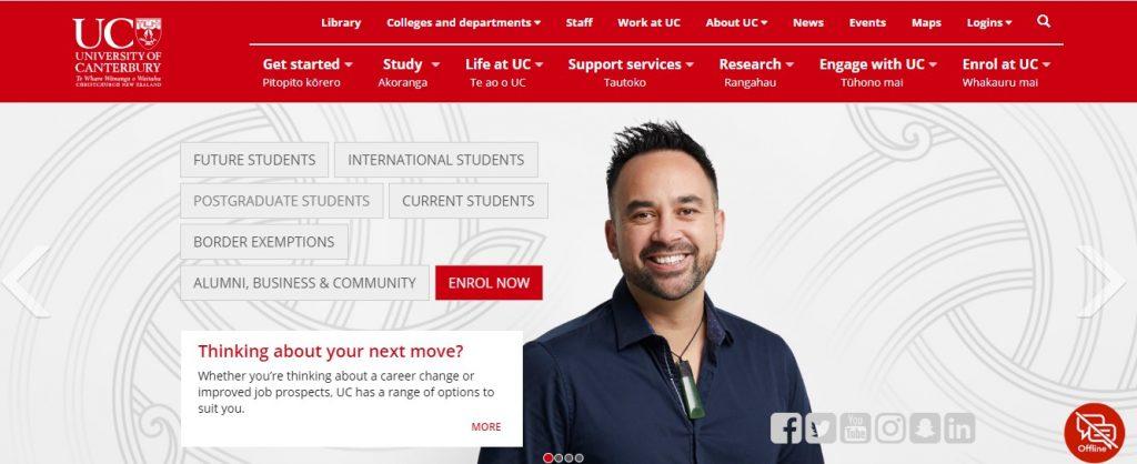 University of Canterbury - Study in New Zealand
