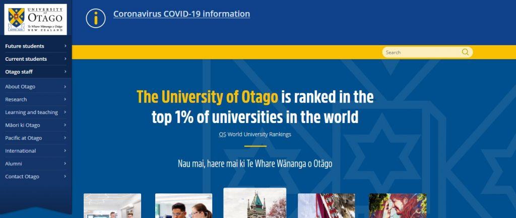 University of Otago - Study in New Zealand
