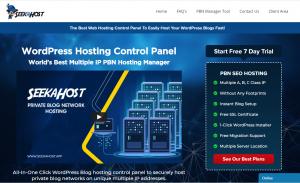 SeekaPanel WordPress PBN Hosting Control Panel